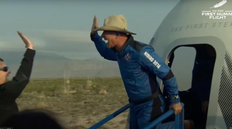 Première mission habitée réussie pour Blue Origin